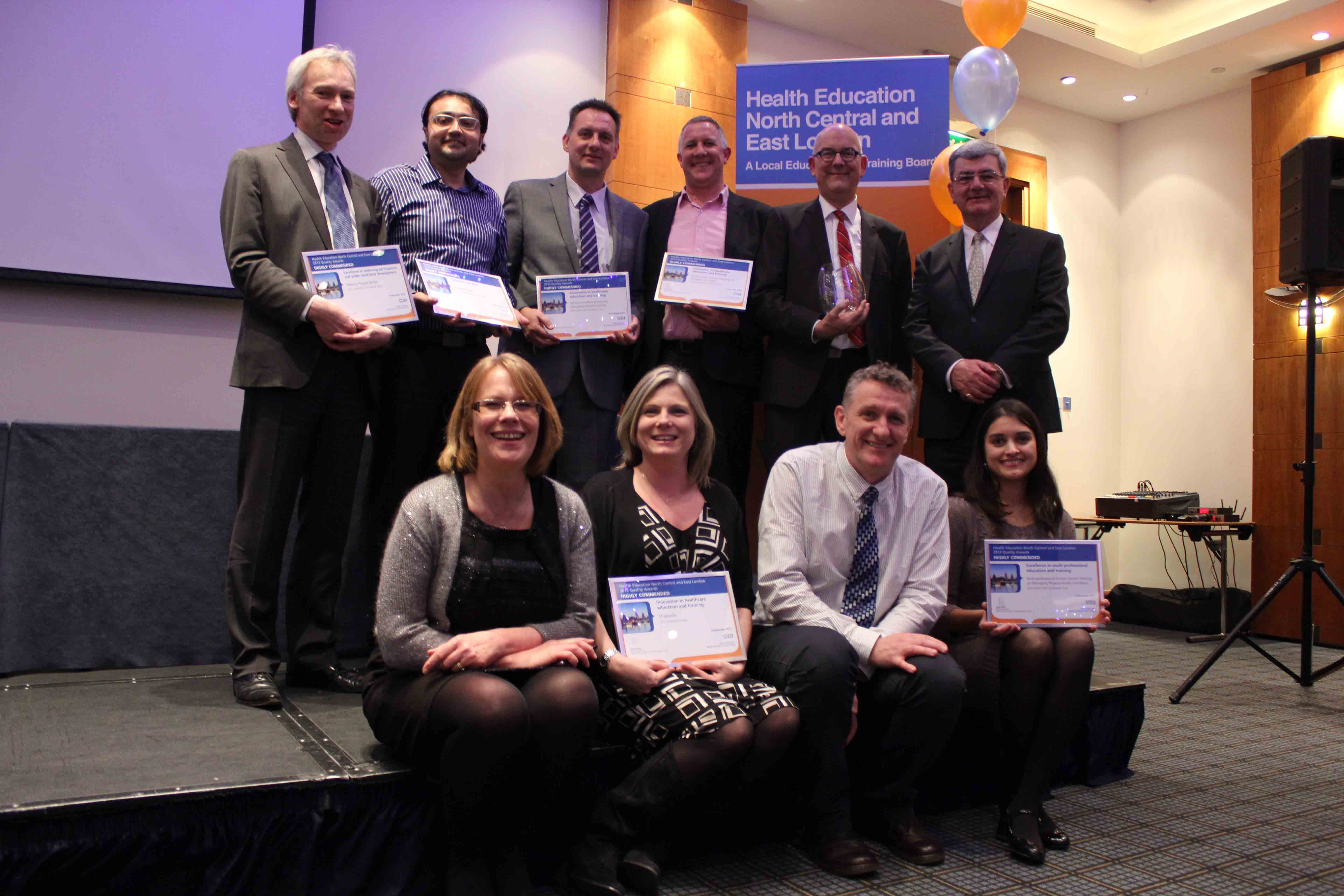 Health Education North Central and East London award winners for Making People Better programme