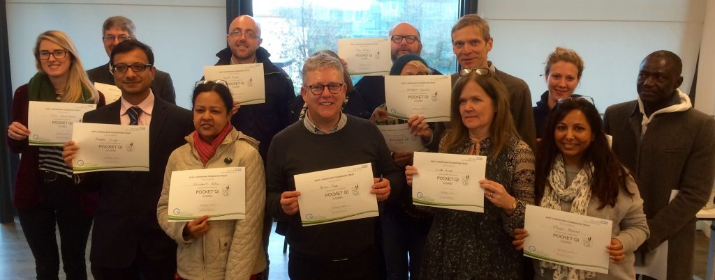 Pocket QI Cohort 1 Graduate in November 2015