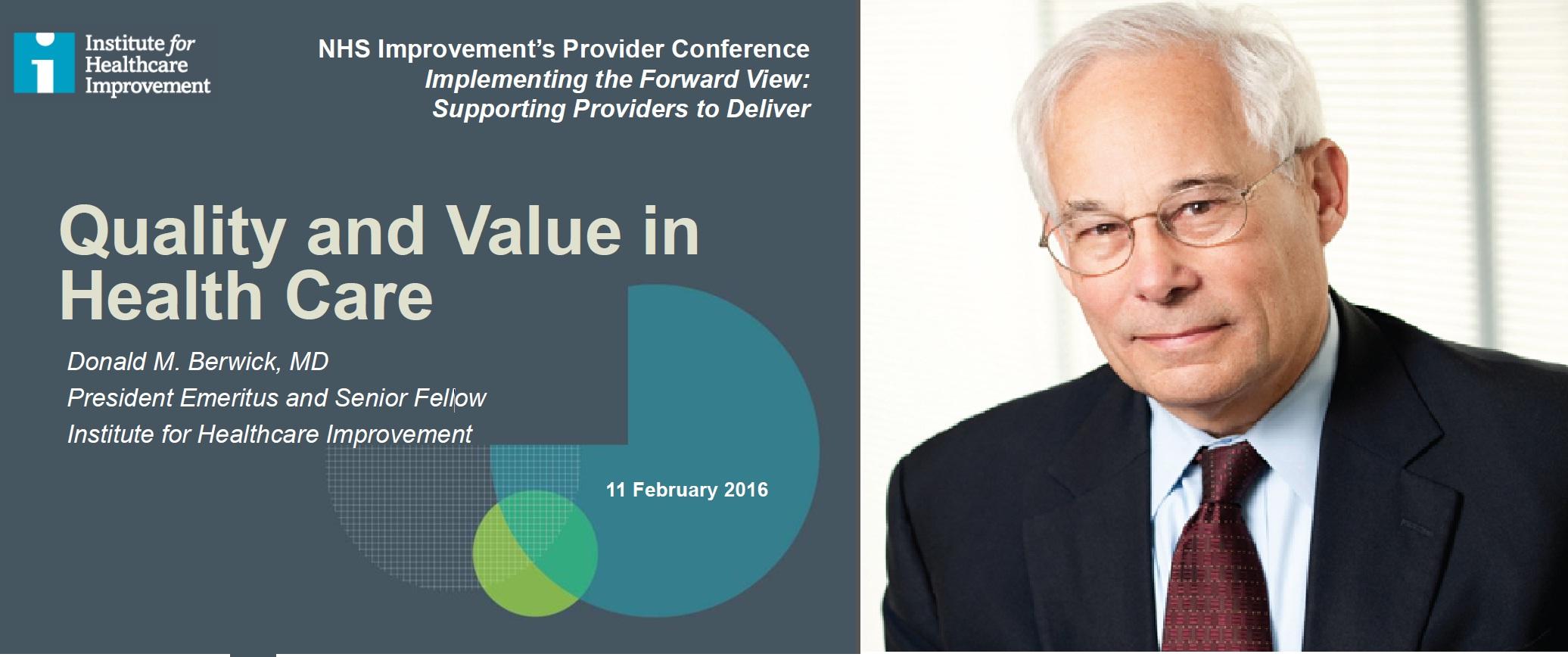 Don Berwick NHS Providers Conf